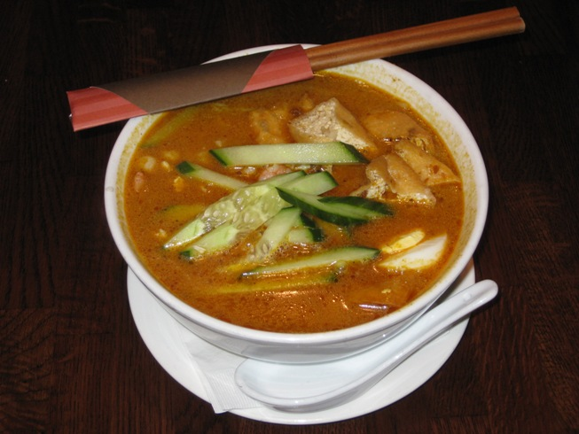 laksa in singapore. thick and rich enough